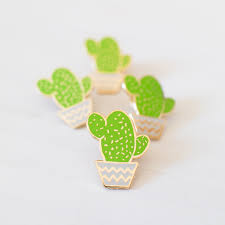 cactus pot enamel pin cacti patches and badges