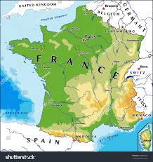 English Channel Map France Physical Vector Map Stock Vector 580945942 Shutterstock