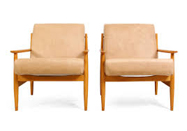 Mid Century Leather Armchairs Set Of 2 For Sale At Pamono