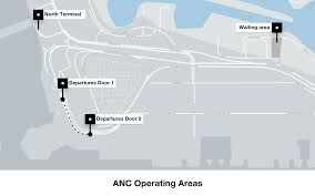 Mexico City Airport Map Instructions For Drivers At Ted Stevens Anchorage International