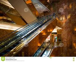 Trump Tower Inside Golden Escalator Inside The Trump Tower Editorial Stock Photo