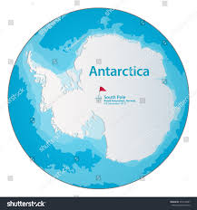 Antartica Map Simple Map Antarctica Stock Vector 374216287 Shutterstock
