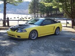 Mustang Yellow And Black 2002 V6 Appearance Modded Black Yellow Low Price
