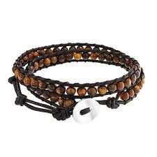 tiger eye jewelry its properties unisex tiger eye adjustable brown leather wrap bracelet 23in