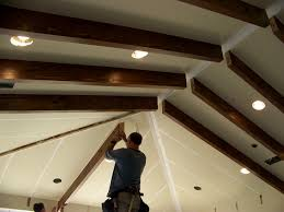 ceiling captivating exposed rafters with recessed lighting also