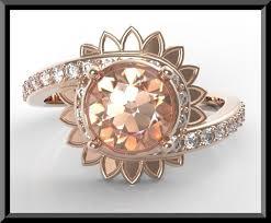 unique gold engagement rings morganite gold engagement ring vidar jewelry unique