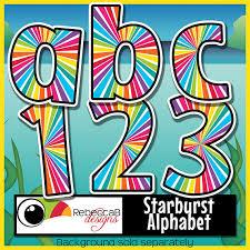 Starburst Design Clip Art Bulletin Board Alphabet Clipart Clipart Letters Starburst