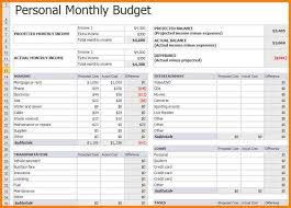 How To A Spreadsheet For Monthly Bills 8 Personal Monthly Budget Template Monthly Bills Template
