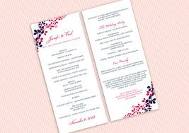 wedding program format wedding program template instantly editable text