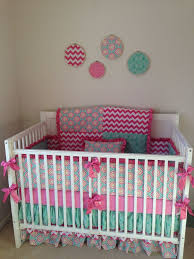 Pink And Aqua Crib Bedding 39 Best Pink And Aqua Baby Nursery Ideas Images On Pinterest