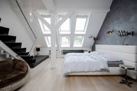 Loft Bedroom Ideas by Apartment Modern Small Apartment With Attic Bedroom Design Ideas