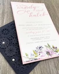 pocket wedding invitation pocket of posies flower laser cut pocket wedding invitation