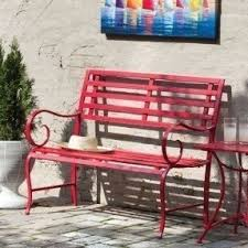 Steel Garden Bench Metal Garden Benches Foter