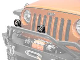 round led lights for jeep rugged ridge wrangler 3 5 in round led light driving beam