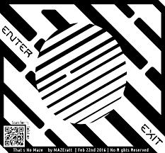maze of optical illusion clipart