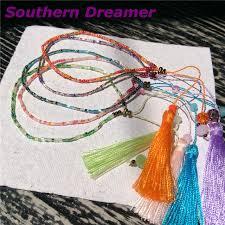 beaded bracelet girl images Bohemian beach japanese seed beads tassel charms beaded bracelets jpg
