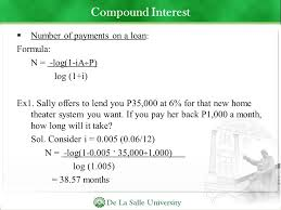 loan formulas bank interest loan and investment computation ppt download