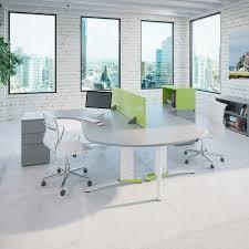 couleur bureau bureau pour open space en bois en stratifié contemporain