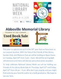 abbeville bureau open house at the library abbeville memorial library