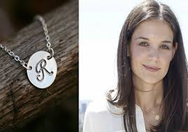 Monogram Initials Necklace Initial Pendant Large Disc Necklace Personalized Jewelry