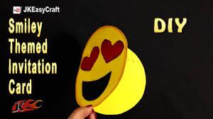 Craft Invitation Card How To Make Emoji Themed Invitation Card Easy Emoji Party Craft