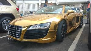 Audi R8 Gold - chrome gold audi r8 v10 spyder in south africa pictures illinois