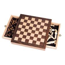 trademark games elegant inlaid wood chess cabinet with staunton