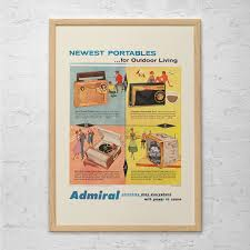 retro admiral radio ad vintage radio poster mid century zoom