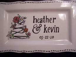 personalized wedding plate the mobile pottery studio custom pottery boutique