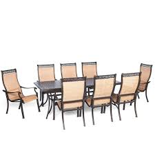 8 Piece Patio Dining Set - hanover traditions 7 piece aluminum rectangular outdoor bar h8