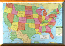 map of the united states showing states and cities us wall maps