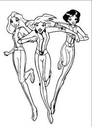 totally spies coloring picture cool printables