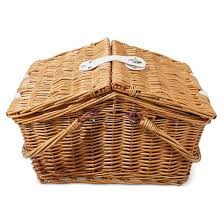 picnic basket for 2 large picnic basket 12 pc set for 2 willow target