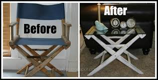 Folding Directors Chair With Side Table Whimages Directors Chair To Side Table Diy