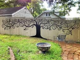 25 beautiful fence art ideas on pinterest garden fence paint
