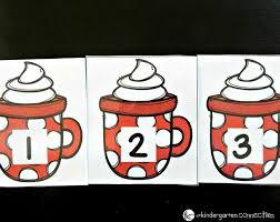 winter alphabet and number cards the kindergarten connection