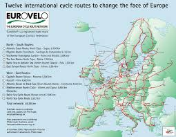 Map Of Ireland And England by European Routes Sustrans