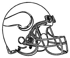 nfl team coloring pages minnesota vikings football helmet coloring page football