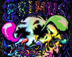 Blacklight Rugs Gig Poster Etsy
