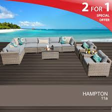 Hampton Patio Furniture Sets - 11 piece wicker patio set rattan outdoor seating
