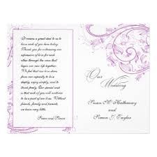 purple wedding programs purple wedding programs flyers programs zazzle