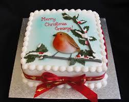 Christmas Cake Decorations Robin by Christmas Cakes Bespoke Bakery
