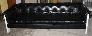 uhuru furniture u0026 collectibles 1970s black vinyl couch u0026 chair