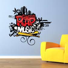Bedroom Wall Graffiti Stickers The Grafix Studio Gangsta Rap Music Graffiti Wall Art Sticker