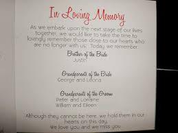 unique wedding memorial ideas in loving memory memory table
