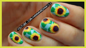 sunflower nail art youtube