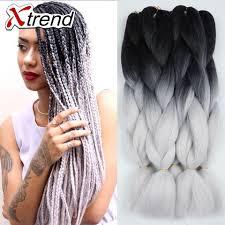 grey kinky twist hair unbelievable cheap bulk kanekalon braiding hair kinky twist black