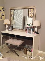Ikea Vanity Table Ikea Hack Desk Into Vanity The Pinterest Project