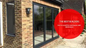 Remove Patio Door by Best Builders U2013 How To Install Rsj Steel Beams With Bifold Doors