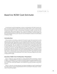 chapter 5 baseline row cost estimate procedures guide for